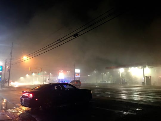 Fire at C & C Wine & Liquor on Oct. 7, 2019 in Jackson, Tenn.
