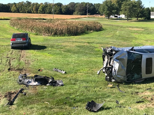 The drivers of the Buick Rendezvous on the left and the silver Chevy Impala were injured in a crash on Indiana 26 and Tippecanoe County Road 900 East.