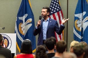 Donald Trump Jr at Louisiana GOP rally in Lafayette for both Republican gubernatorial candidates.   Monday, Oct. 7, 2019.