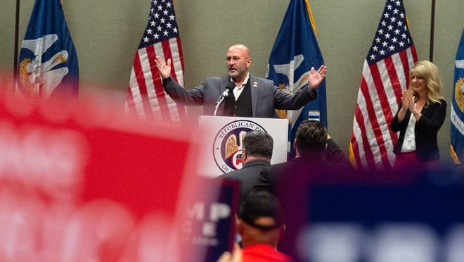 Clay Higgins at Louisiana GOP rally in Lafayette for both Republican gubernatorial candidates, with special guests Donald Trump Jr.  Monday, Oct. 7, 2019.