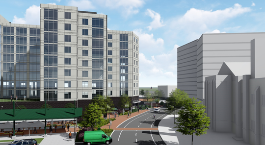 Rendering of Park Place West as submitted to the city Aug. 23, 2019