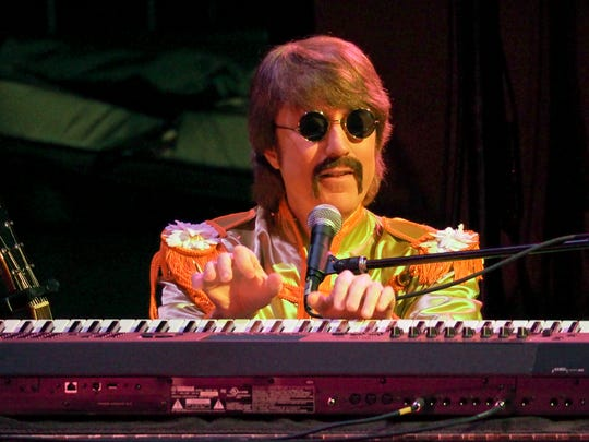 Classical Mystery Tour's John at the piano.
