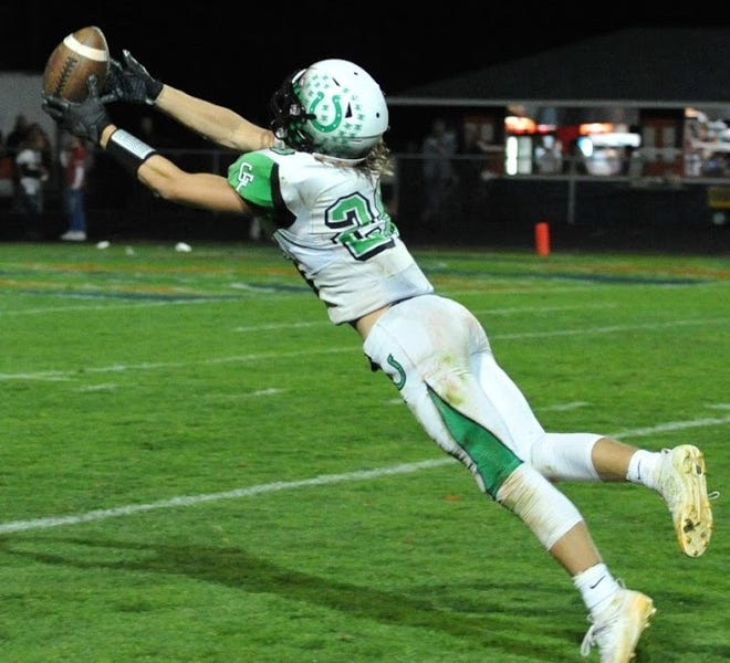 Clear Fork's Ashton Lyon caught five passes for 96 yards and a touchdown in the Colts' thrilling 31-21 win over Galion. Lyon also added a highlight-worthy diving catch in the second half of the Colts win.