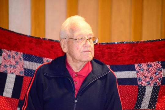 Arthur Kern, a veteran of World War II, on Sunday received a quilt from Quilts of Valor, an organization that has awarded over 230,000 quilts nationwide.