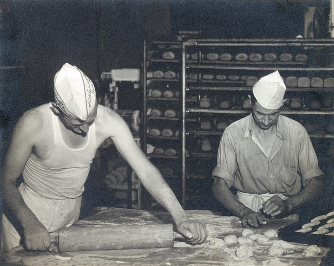 Family-owned O&H Danish Bakery has been making pastries and breads for 70 years, as in this undated photo.