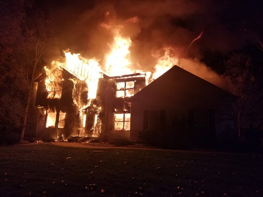 Washington Township (Morris) fire companies battled this early-morning house fire on Lenore Court in Long Valley in the early morning hours of Oct. 5, 2019.