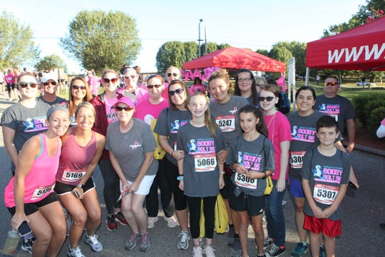 A team of Lori Stone's fellow teachers and friends, led by friend and colleague Amanda Dalton, of Ashland City Elementary School, participated in the Booby Bolt.