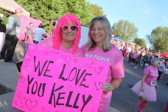 Debbie Mitchell and Laura Thompson led a team of 72 in support of their friend Kelly Voorhies.