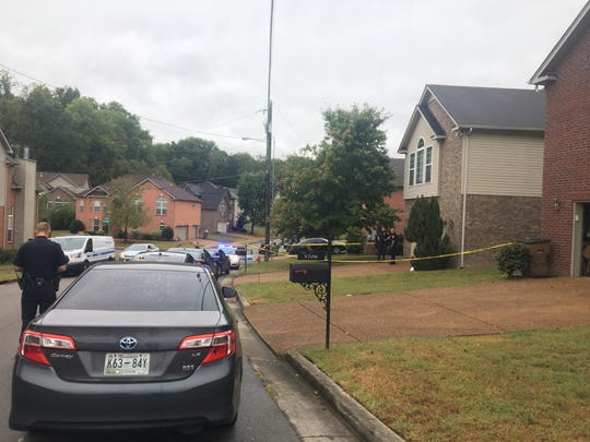 Nashville police work on the scene of a stabbing that killed a woman, her teenage son and injured her daughter on Sonoma Trace in Antioch Monday.