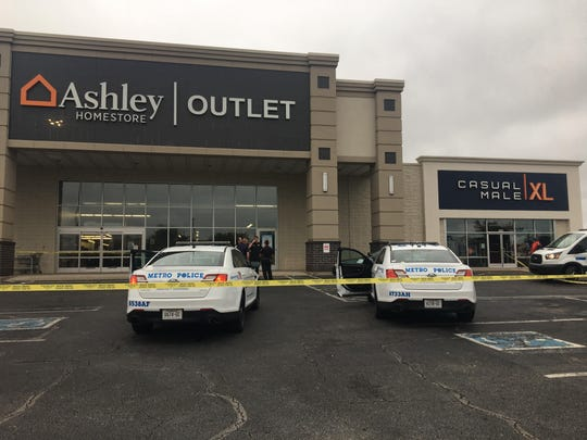 Nashville police took a fatal stabbing into custody at the Ashley HomeStore Outlet furniture Monday, Oct. 7, 2019