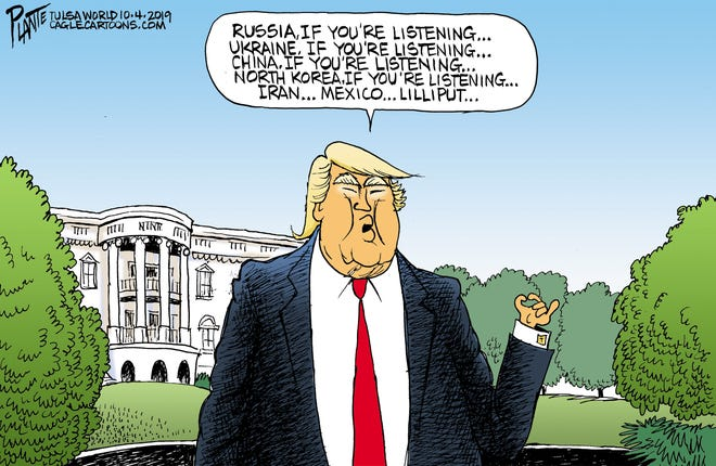 Trump asks for help.