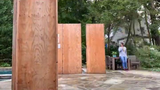 Time-lapse video of the construction of a Sukkah.