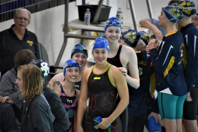 The South Lyon swim and dive team had eight swimmers qualify for state at the Oakland County meet on Oct. 5.