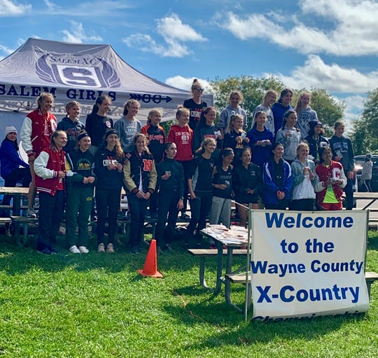 The Northville girls cross country team placed fifth at the Wayne County meet.