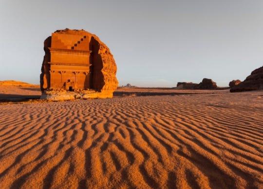 Archaeological site Qasr al-Farid at Hegra in Saudi Arabia