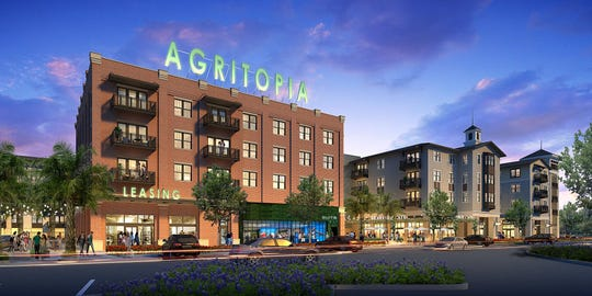 A rendering of the new Epicenter mixed-use development in Gilbert's Agritopia.