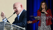Democrat Mark Kelly(left) and Republican Sen. Martha McSally(right) are running for Senate in Arizona.