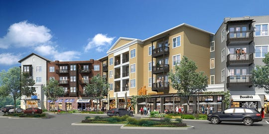Mixed-use apartment housing and residential space at Epicenter in Gilbert's Agritopia.