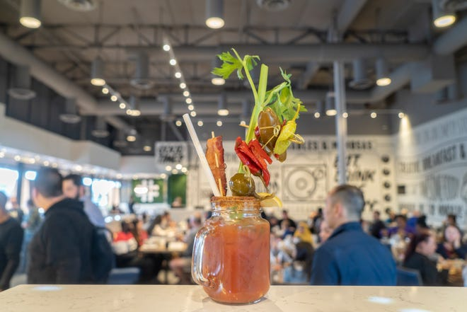 Build your own ultimate bloody mary at Hash Kitchen.