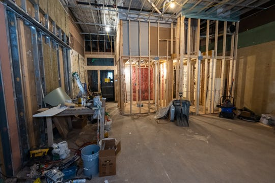 A classroom, changing and shower facility and office for Afterburn Fitness Club are being constructed in a space in the Ballentine building in Port Huron.