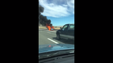 A pickup truck caught fire on Monday near the Bowers Mansion exit on U.S. 395 in Washoe Valley.
