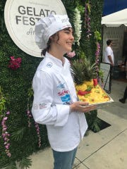 Chef Ashley Westwood led the team from Bibo Freddo Gelato of Reno at the recent Gelato Festival America 2019 in Los Angeles.