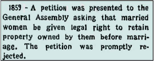 Female petition denial from newspaper