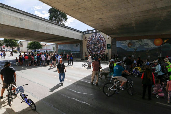 People rode bikes, walked, skateboarded and more to the annual Ciclovía Salinas Oct. 6, 2019.