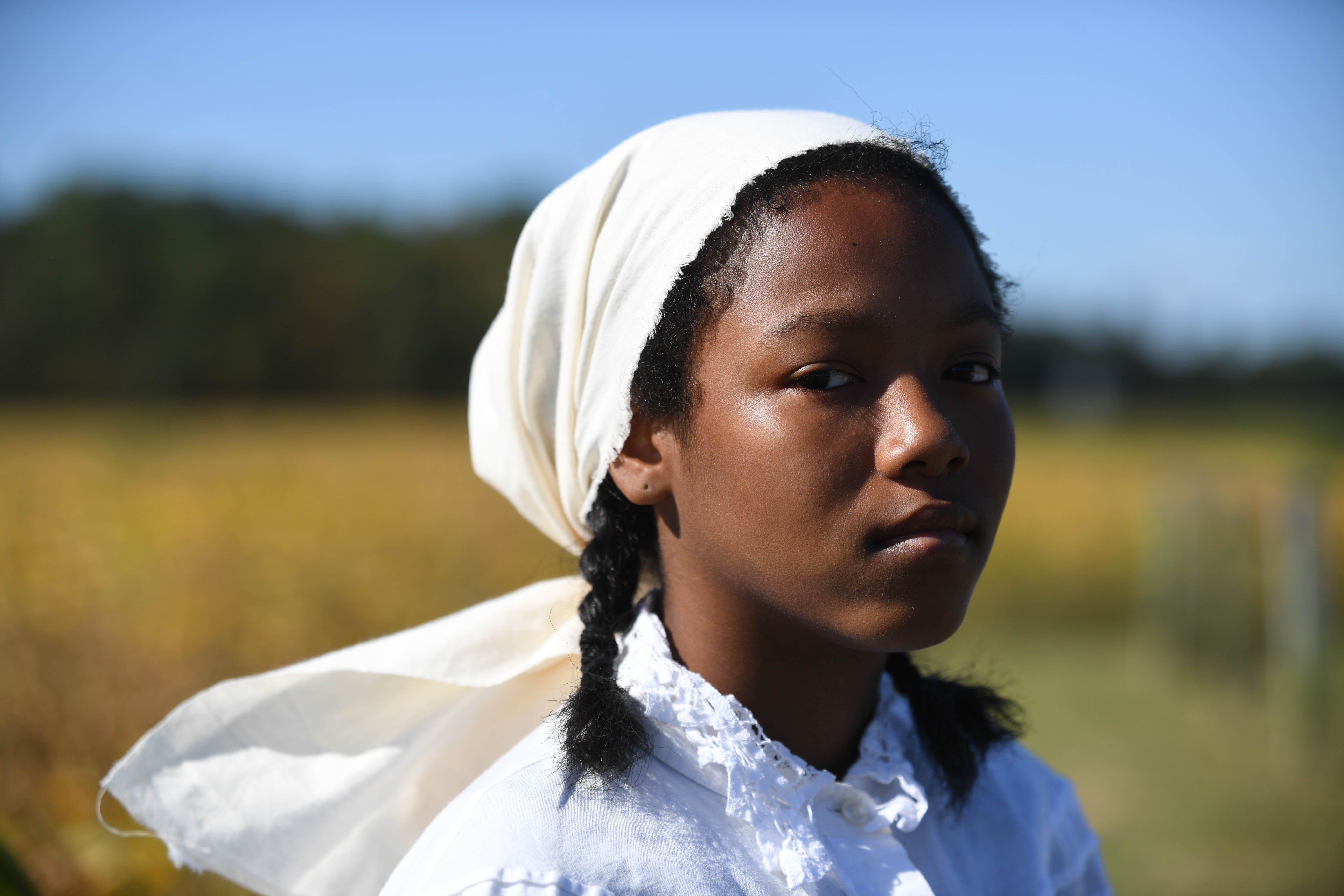 Harriet Tubman, according to Clara Smalls, an emeritus history professor at Salisbury University, didn't know how to clean properly, got sick while working and fell asleep at random times. Her overseers beat her so violently, she had scars. Reenactor Sydney Rushing portrays Tubman.