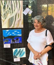 Marie Rinaudo was among those participating in the Strokes for Stroke Art Exhibit at Feist-Weiller Cancer Center, Bakowski Center for Learning at Ochsner LSU Health Shreveport.