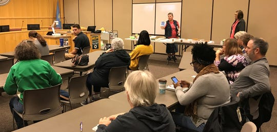 Sioux Falls School District officials prepare to train new substitute teachers Wednesday, Oct. 2, 2019, at the Instructional Planning Center in Sioux Falls.