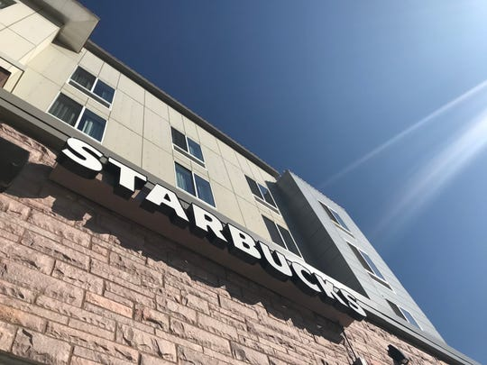 The new Starbucks at the Hilton Garden Inn-Downtown overlooks the Big Sioux River.