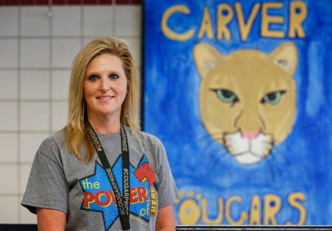Carver Middle School Principal Dana Powers was recently named the top middle school principal in southwest Missouri.