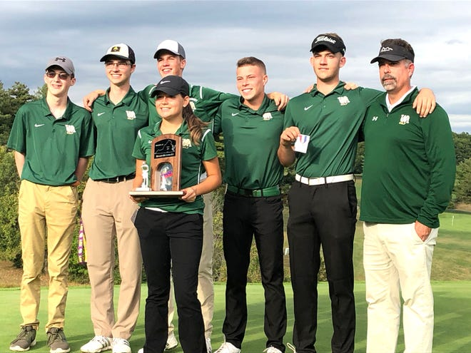 Wilson Memorial, seen here with the Region 3C runner-up trophy, finished fifth at Tuesday's state golf tournament.