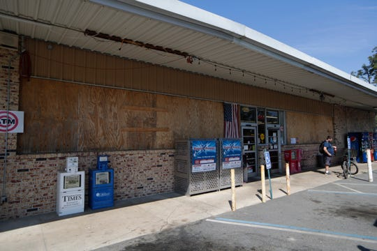 The Malone IGA has still not fully recovered from Hurricane Michael damage one year later.