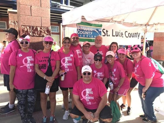 The St. Lucie County Commission team was the top fundraising team at the 2018 Making Strides Against Breast Cancer walk.