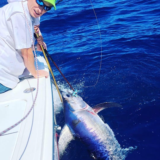 Swordfish, like this one caught aboard DayMaker charters with Capt. Patrick Price in Stuart, were caught at the end of last week, as sea conditions allowed anglers to get offshore.