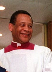 Monsignor James White, pastor of St. Vito-Most Holy Trinity Church in Mamaroneck, is seen in a file photo.