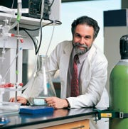 This undated photo provided by Johns Hopkins University shows Gregg L. Semenza at the university in Baltimore. Semenza, a Johns Hopkins University researcher, was awarded  the Nobel Prize for Physiology or Medicine on Monday, Oct. 7, 2019. He will share the prize with Drs. William G. Kaelin Jr. and Peter J. Ratcliffe for their discoveries of how cells sense and adapt to oxygen availability, the Nobel Committee announced Monday.  (Johns Hopkins University via AP)