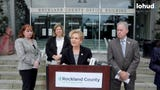 Rockland County officials promoted early voting and other New York State election reforms at a news conference at the county office building Monday.