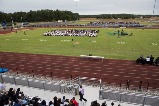 More than 2,000 family members, friends, fans and admirers attended a Celebration of Life Ceremony at Woodbridge High School for former quarterback Troy Haynes who lost his battle with kidney cancer Sept. 29, 2019.