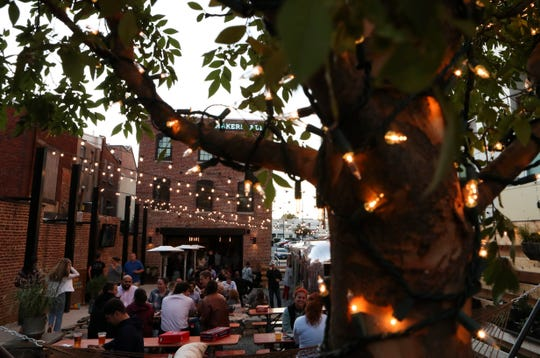 Makers Alley, between the 800 block of Shipley and Orange Streets in Wilmington, features a soaring three-story bar space - that opens to a garden area - and a large variety of beers on draft.