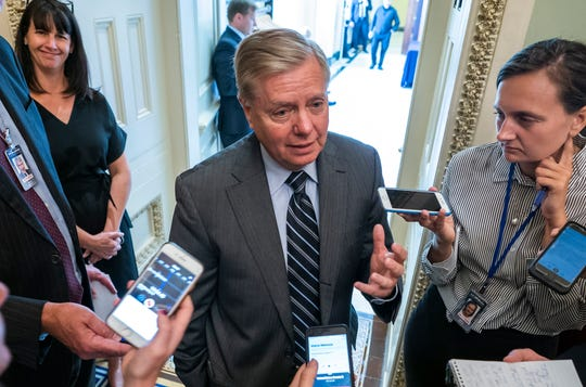 Westlake Legal Group 104b14d5-213d-43e1-839d-0ab297e5b7f8-EPA_USA_GRAHAM_IMPEACHMENT Lindsey Graham to President Trump: `I will hold you accountable' on Turkey's actions in Syria