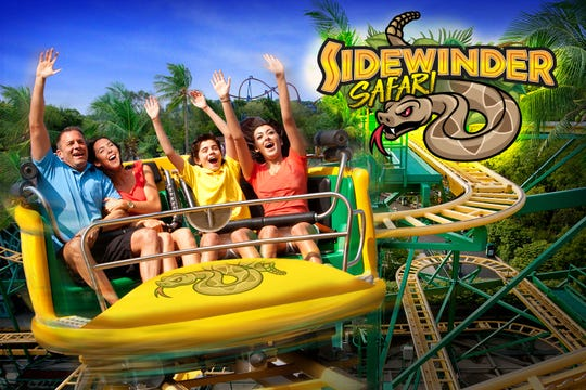 Single-car trains will freely spin along a Wild Mouse-like track with hairpin turns on the Sidewinder Safari coaster coming to Six Flags Discovery Kingdom.
