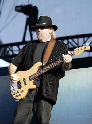 Larry Junstrom performing with .38 Special on Aug. 10, 2006. The bassist died Sunday at age 70.