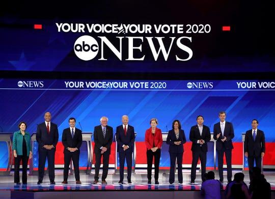 Democratic presidential debate on Sept. 12, 2019, in Houston.