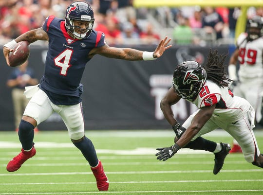 Deshaun Watson had a big day in the Texans' 53-32 win over the Falcons.
