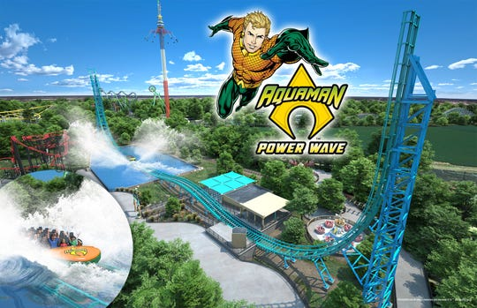 Aquaman: Power Wave at Six Flags Over Texas in Arlington will be the first attraction of its kind in North America.