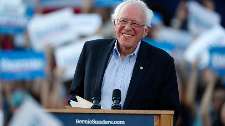 FILE - In this Monday, Sept. 9, 2019 file photo, Democratic presidential candidate Sen. Bernie Sanders, I-Vt., speaks during a rally at a campaign stop, in Denver. Sanders had a heart attack, his campaign confirmed Friday, Oct. 4, 2019,  as the Vermont senator was released from a Nevada hospital. Sanders' campaign released a statement from the 78-year-old's Las Vegas doctors that said the senator was stable when he arrived Tuesday at Desert Springs Hospital Medical Center. (AP Photo/David Zalubowski, File) ORG XMIT: CAET417