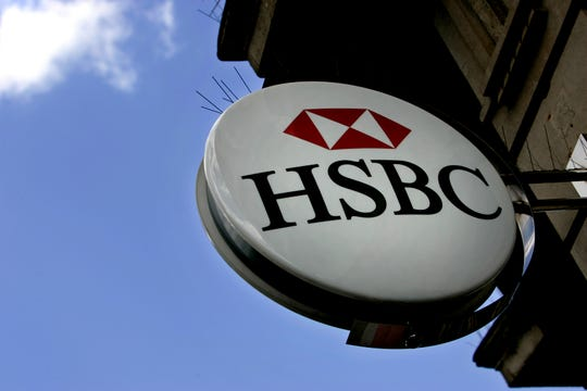 This July 30, 2007 file photo shows an HSBC sign at a branch in London. British labor union Unite has expressed dismay over reports that the bank HSBC will slash 10,000 jobs worldwide.